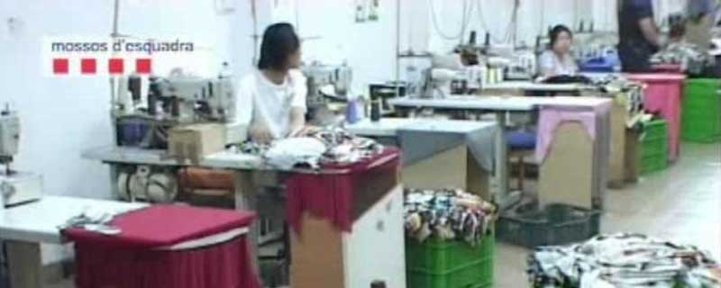Imagen de uno de los talleres localizados en Mataró en 2009
