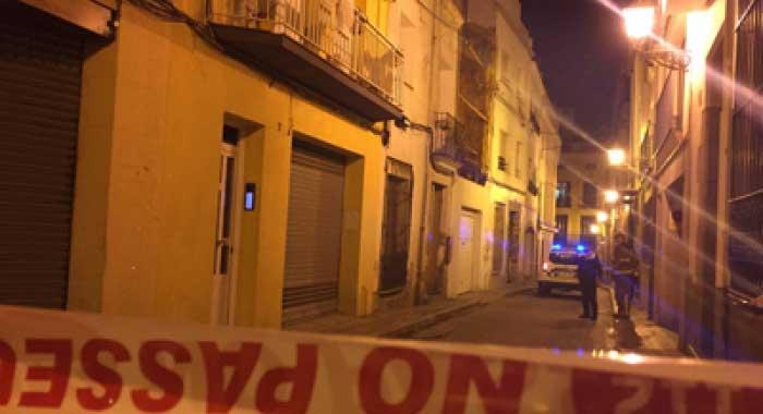 La policía local cortó la calle. Foto: Ajt. Arenys de Mar