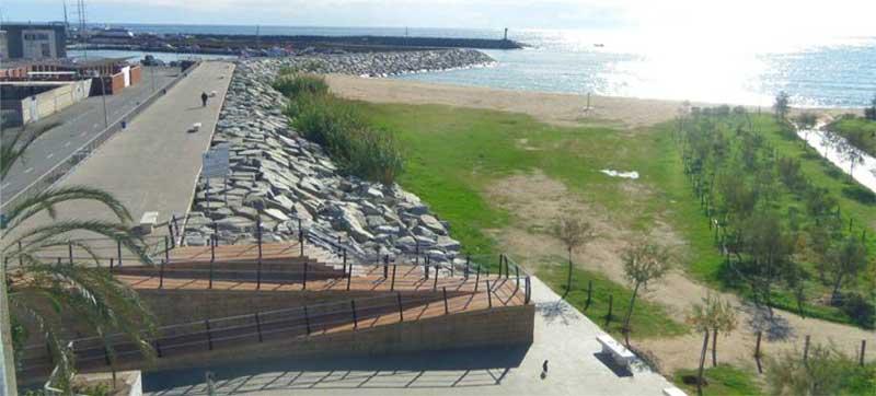 Zona de obras del proyecto del puerto de Arenys de Mar