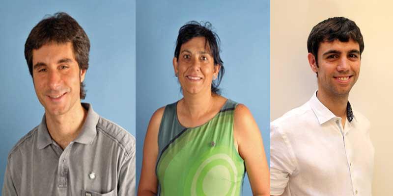 Juli Cuéllar, Carme Polvillo (Mataró) y Eudald Calvo, de Argentona a favor del pacto