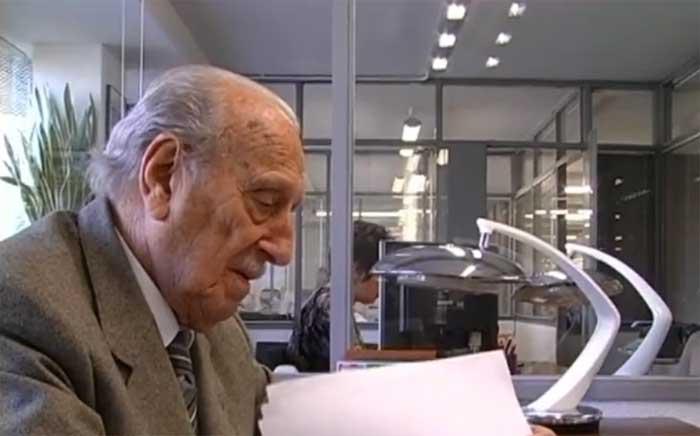 Josep Beltran en unas imágenes de televisión