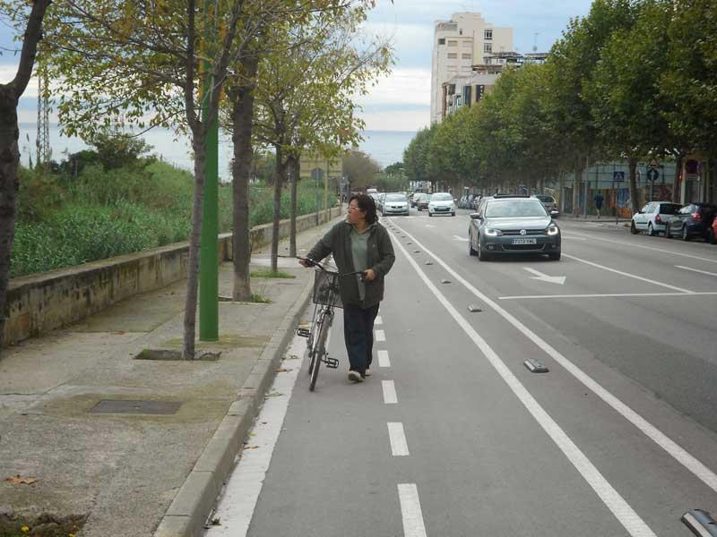La comarca cuenta con numerosos tramos aptos para ciclistas