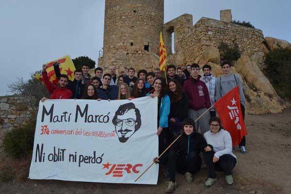 Momento del homenaje a Marcó. Foto: JERC Maresme