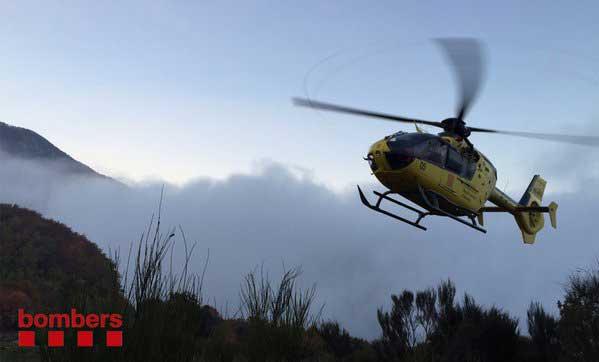 La mujer tuvo que ser rescatada con un helicóptero