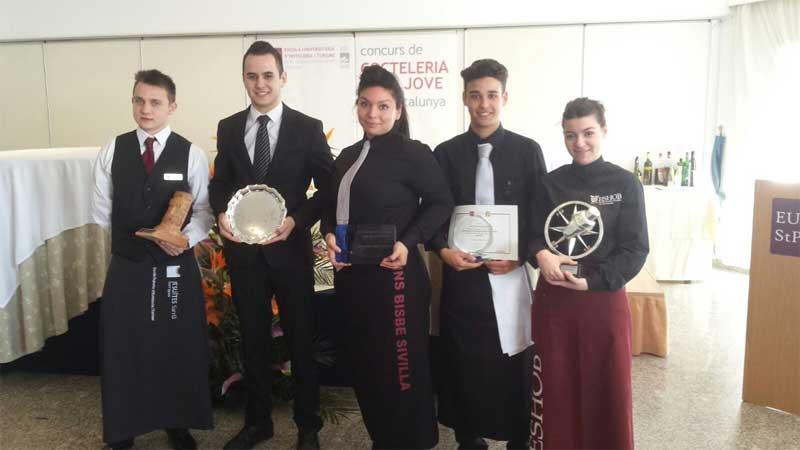 Los vencedores del concurso de Sant Pol. Foto:EUHT StPOL