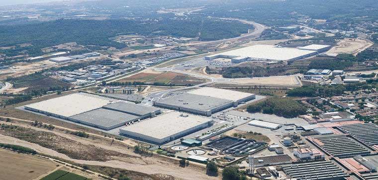 Vista aérea del complejo de Inditex en Tordera y Palafolls