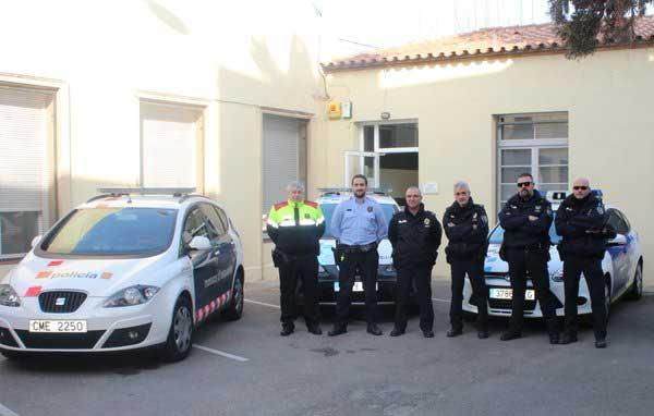 El dispositivo contará con ocho agentes, entre Mossos y policias locales. Foto: Ajt de Tiana