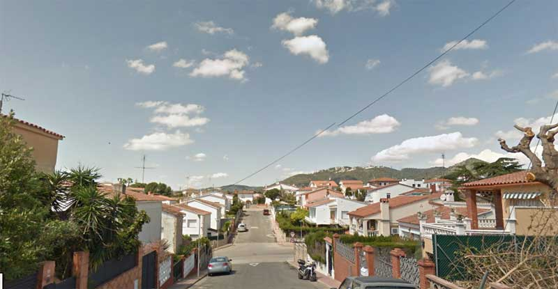 Calles de la urbanización Pinemar, en Pineda de Mar