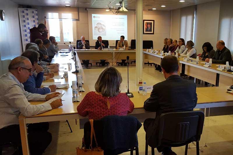 Reunión del diputado con los alcaldes del Maresme. Foto: DdB
