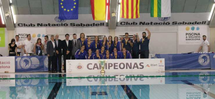 Las chicas del CN Mataró han logrado su primera copa. Foto: RFEN