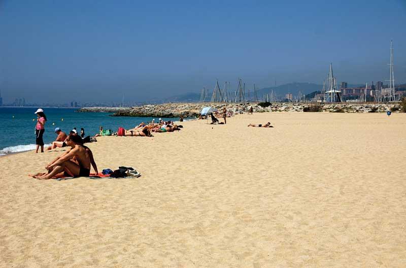Playa de Ocata en El Masnou. Foto: Costa Barcelona
