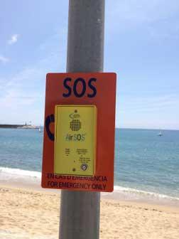 Uno de los puntos de emergencia ya instalados. Foto: Ajt. de Mataró