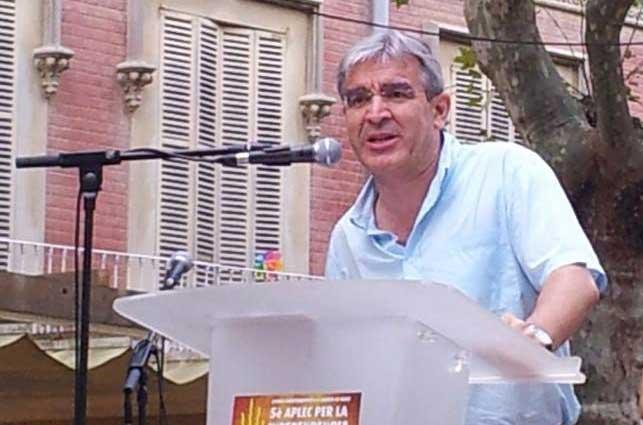 El exalcalde de la CUP de Arenys de Munt, Josep Manel Ximenis