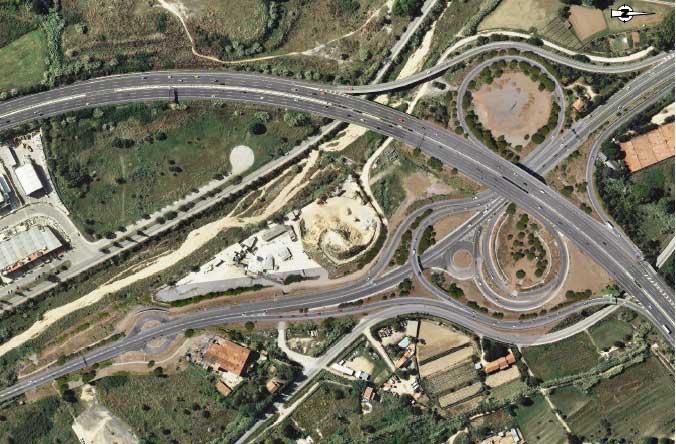 Vista aérea del enlace con la C-60