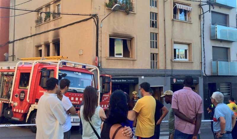 La vivienda incendiada en la calle Floridablanca. Foto: Ajt. de Mataró