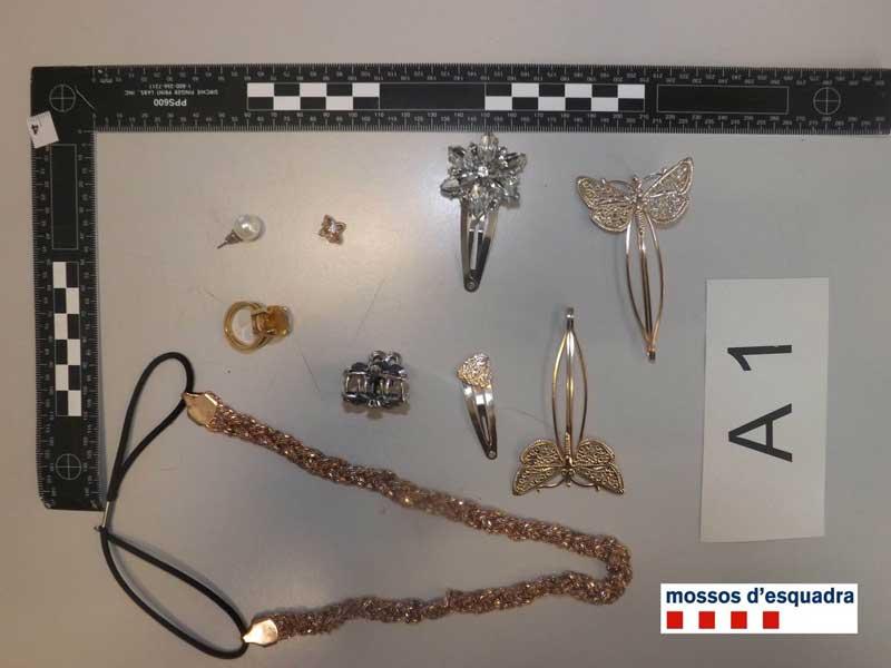 Algunos de los objetos recuperados por la policía