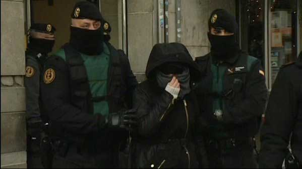 La joven fue detenida el sábado por la Guardia Civil. Foto: Guardia Civil