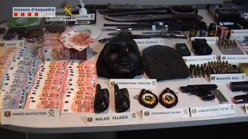 Una operación conjunta de Mossos y Guardia Civil ha permitido desarticular esta banda