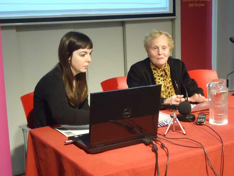 Pilar Falgàs va explicar la seva experiència com a dona treballadora. Foto: Josep Mas