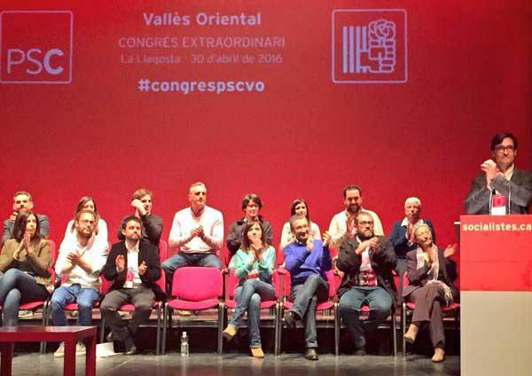 La nueva ejecutiva del PSC del Vallès Oriental