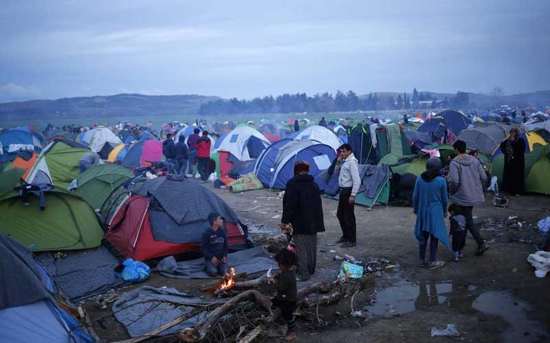 Imagen del campo de refugiados a donde se dirigía la Brigada Idomeni