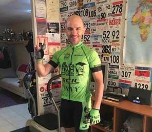 Mingote ya está preparado para subir a la bici