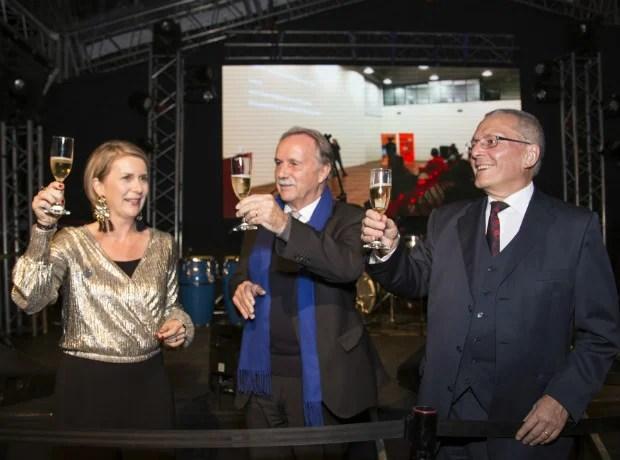 Katja Kessing, Klaus-Dieter Lehmann y Michael Bock.
