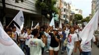 Em Salvador, estudantes realizam protesto pelo aumento na tarifa de ônibus