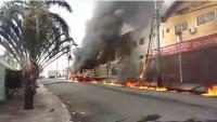 SP: Ônibus pega fogo em Campinas
