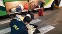 PRF apreende 55 quilos maconha em intervalo de quatro horas no Paraná