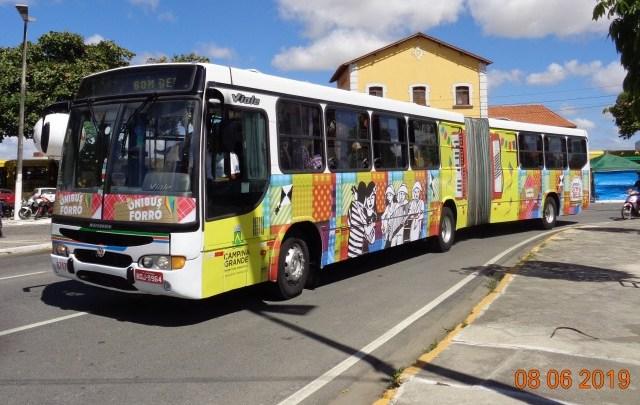 PB: Campina Grande terá ônibus extras durante os festejos de São João na cidade