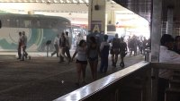 Ônibus da Camurujipe pega fogo na Rodoviária de Salvador