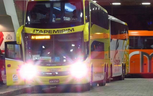 Itapemirim aposta em ônibus DD e carro executivo de 42 poltronas na BH x Guarapari