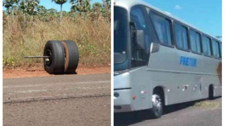 Roda de ônibus se solta na rodovia PI-113