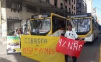 Rodoviários do Recife realizam protesto nesta manhã de quarta-feira 17