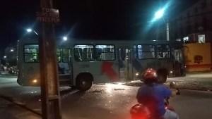 Ônibus é depredado durante tumulto em Fortaleza