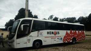 ES: Ônibus do Hemoes recebe doações de sangue na quarta-feira (17)