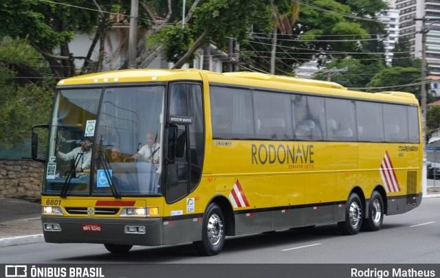 Busscar Rodonave da Itapemirim chama atenção na Via Dutra durante a madrugada