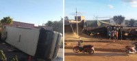BA: Acidente entre carreta e ônibus deixa três feridos em Seabra