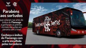 Flamengo anuncia novo design de seu ônibus patrocinado pelo Buser