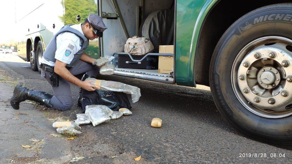 SP: Polícia Rodoviária apreendem 12 pacotes de skank com passageira de ônibus na Raposo Tavares