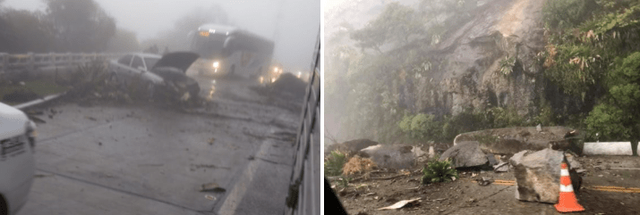 Rio x Teresópolis tem queda de encosta na tarde deste domingo