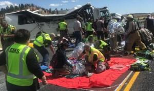 Acidente de ônibus nos EUA deixa quatro mortos e 17 feridos