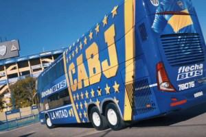 Boca Juniors blinda ônibus DD antes do jogo com o River Plate