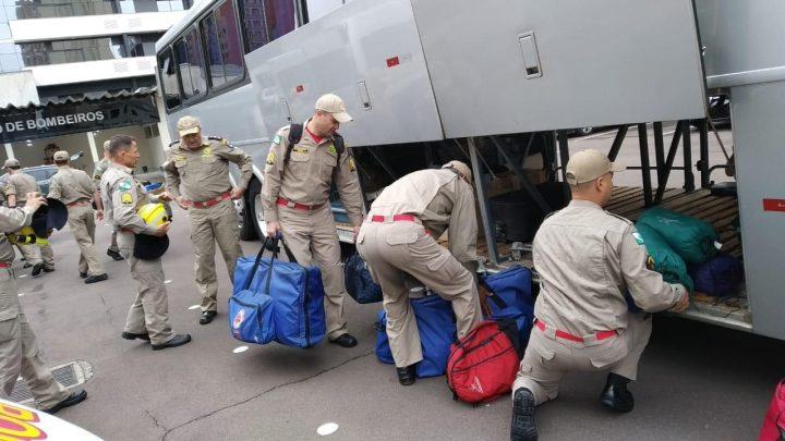 Bombeiros do Paraná seguem para o Pará de ônibus