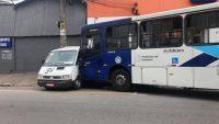 Motorista tem mal súbito e acaba colidindo ônibus em Diadema