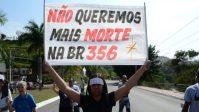 MG: Manifestação fecha a BR-356 na manhã deste domingo