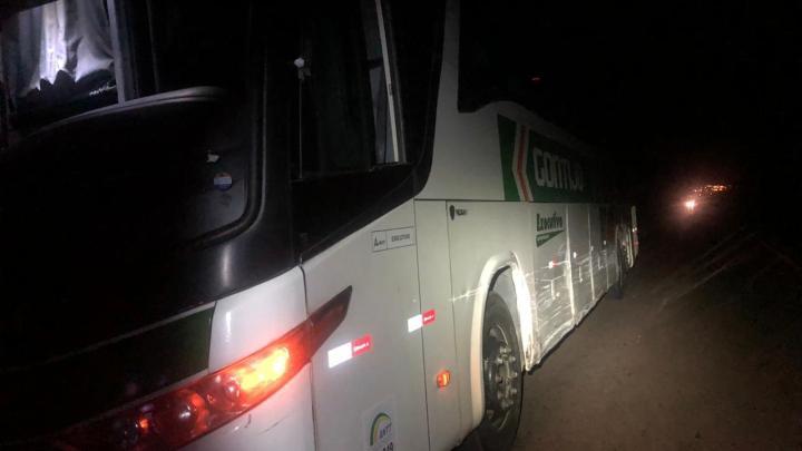 Acidente entre carro e ônibus da Gontijo deixa um ferido em Minas Gerais