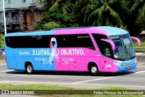 Santana aposta em campanha contra o câncer em seu ônibus