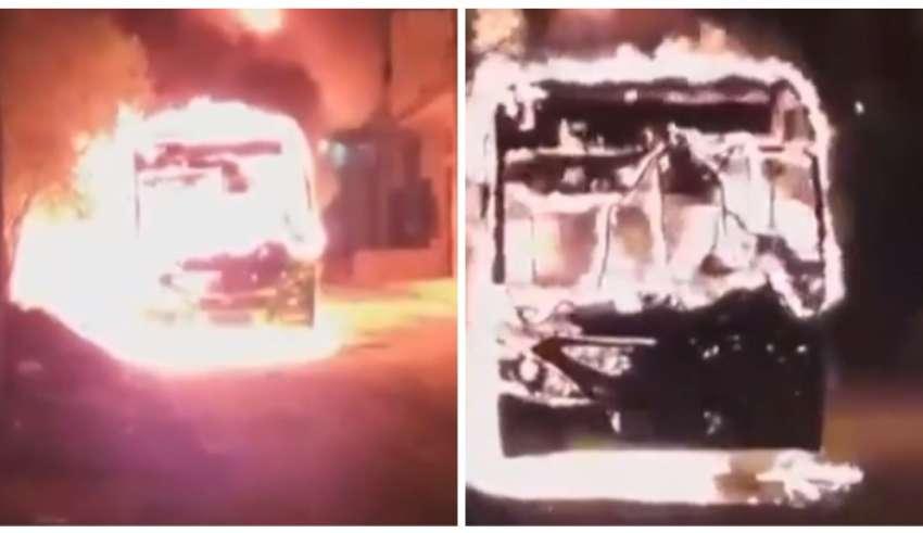Grande BH: Ônibus é incendiado em Ribeirão das Neves